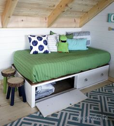 twin daybed bookcase with 6 drawers dresser in honey finish furniture pinterest daybeds bookcase with drawers and twin