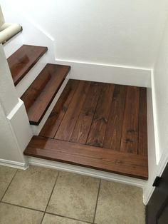 Replaced the carpet on our stairs with wood. (#QuickCrafter)