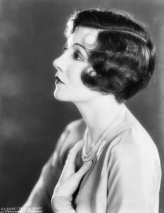Claudette Colbert, late 1920s.