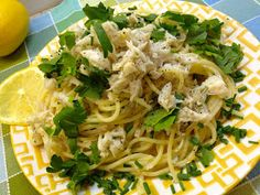Neurotic Kitchen : Lemon Lust - Crab Pasta with Lemon and Chive Butter Sauce