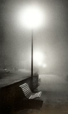 Night Walk, Surrey, England, Michael Kenna - one can't help wondering what's going to drift out of the mist: Sherlock? or Dracula?