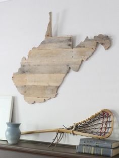 WV Timber // Wooden West Virginia made from reclaimed lumber in the USA