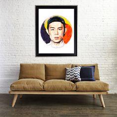 Watercolor Beenzino KPOP korean print art matte by AmorImprimo on Etsy