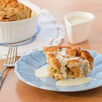 A recipe for New Orleans style bread pudding served with a whiskey sauce. Day old bread is used to make a delightful and comforting dessert.