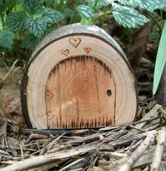 $9 etsy, wood fairy door