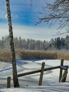 Winter day in Ingå, Finland