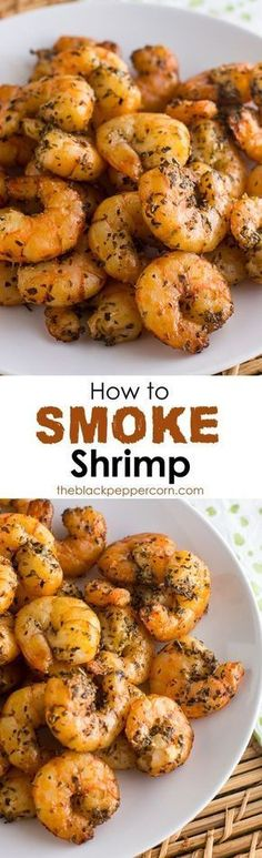 How to Smoke Shrimp in an Electric Smoker BBQ Recipe - Smoked shrimp is rich and delicious. Simple to make with these easy instructions. Make in an electric smoker, or pellet, big green egg or other smoker. Smoker Grill Recipes, Tragbarer Grill, Smoker Cooking, Grilling Recipes, Fish Recipes, Seafood Recipes, Cooking Fish, Oven Recipes, Electric Smoker Recipes
