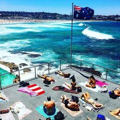 No better way to spend an afternoon #Sydney #Beaches #BondiBeach #Icebergs