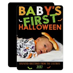 HALLOWEEN PHOTO CARD - invitations custom unique diy personalize occasions