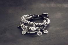 ✔️ | CIELO Y TIERRA | Pulsera combinada en plata y cuero UNOde50 | UNOde50 bracelet made in silver and leather