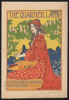 The Quartier Latin. A magazine devoted to the arts - Cover art by Louis Rhead - c. 1890-1900.  (via: turnofthecentury: Library of Congress)