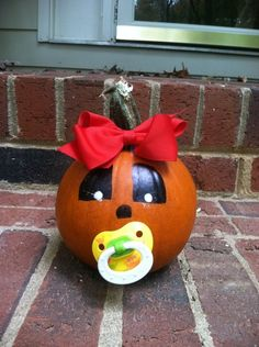 Make a baby pumpkin for your baby. :)