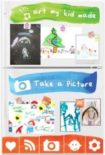 Art my kid made app - store + share your kid's artwork. No more guilt when you toss!