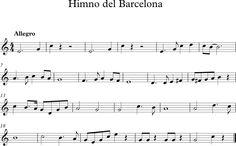 Descubriendo la Música. Partituras para Flauta Dulce : Himno del Barcelona