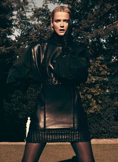 Carmen Kass is Clad in Black for Vogue Latin Americas September Cover Shoot by Koray Birand