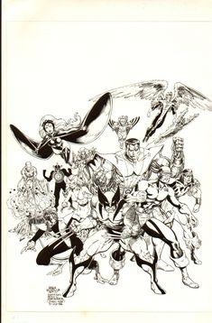 Arthur Adams Classic X-Men #1 Cover Comic Art