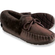 Real shearling Wicked Good Moccasins form L.L. Bean. These look comfy cozy for my toe-sies!