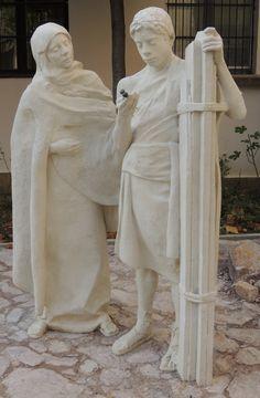 Mária és Jézus szobra