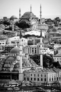 Monochrome minarets, Istanbul | Turkey