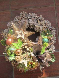 Vianočný venček na dvere-33cm-zlava!