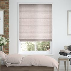 £56 small window £104 large window Bedroom Blinds 2go™, Elegant Faux Silk Roman Blinds Roman Blinds, Curtains With Blinds, Window Blinds, Bedroom Blinds, Bedroom Windows, Blinds For Small Windows, Store Bateau, Maximalist Interior, House Blinds