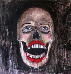 Carlo Deperu- Back to skull (2013) 120 x 120 cm 850€ https://www.veerkant.com/carlo-deperu/back-to-skull/
