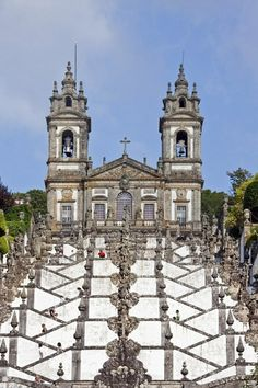 Stairway and church of Bom Jesus do Monte, Portugal