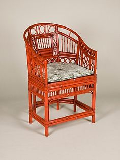 Sibyl Colefax & John Fowler Antiques :: Pairs and sets of elbow chairs :: Four bambo chairs Bamboo Art, Faux Bamboo, British Colonial Style, Country House Interior, Bamboo Furniture, Coral Orange, House Interiors, Chinoiserie, Red Roses