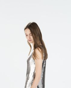 Image 2 of SEQUINNED DRESS from Zara