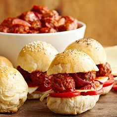 Meatball Sliders From Better Homes and Gardens, ideas and improvement projects for your home and garden plus recipes and entertaining ideas.