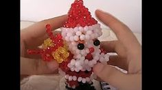 How to bead anime acceceroy: Santa Claus Beaded Crafts, Beaded Ornaments, Ornament Crafts, Ornament Wreath, Beaded Bags, Beaded Jewelry, Decor Crafts, Diy And Crafts, Beaded Cross Stitch