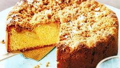 MADE IT - Crumble needs more flour or less butter than the recipe says. Fill the house with the beautiful aroma of freshly baked apple tea cake, then slice and enjoy! Apple Recipes, Sweet Recipes, Baking Recipes, Cake Recipes, Dessert Recipes, Apple Tea Cake, Cinnamon Tea Cake, Cinnamon Crumble, Apple Cakes
