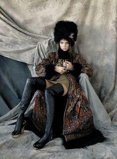 Natalia Vodianova, photo by Steven Meisel, Vogue US, 2009