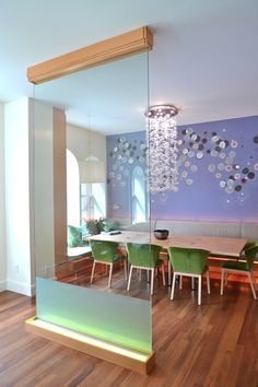 Dining or meeting room, maybe even restaurant or hotel public area.