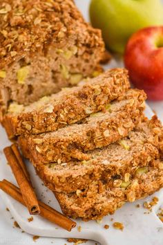 This Apple Bread is absolutely delicious. Easy and the perfect mix of spices with a delicious streusel topping, you will make this amazing apple cinnamon bread all fall. Strawberry Banana Bread, Make Banana Bread, Banana Bread Recipes, Apple Recipes, Apple Cinnamon Bread, Apple Bread, Cinnamon Apples, Baked Pumpkin Oatmeal, Pimento Cheese Recipes