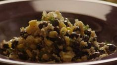 Quinoa and Black Beans Allrecipes.com (you can substitute onion salt and garlic powder - if desired)