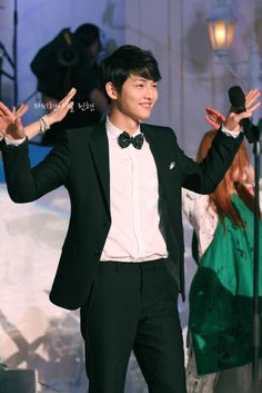 Song Joong Ki 송중기 at an event (I really forget what event).