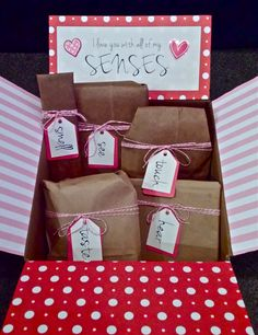 Diy I Love You With All My Senses Valentines Day Gift For Him
