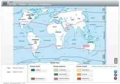 Les zones climatiques.