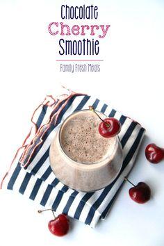 Chocolate Cherry Smoothie --- FamilyFreshMeals.com ---