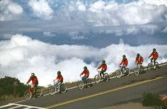 Biking down Mt Haleakala.  Don't know that I'd do it again, but glad to say I did it once!