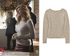 Nashville: Season 3 Episode 9 Rayna's Gold Sequin Sweater