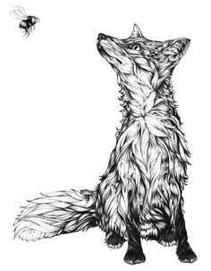 #handdrawn #illustration #typography #storytelling #fox #bee