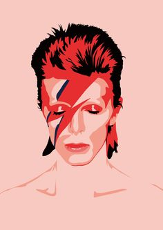 BOWIE! I have a shirt w/this exact print on it! One of my favs! <3 L-