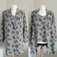 Roman Originals 2 Piece Vest Top & Long Jacket Size.20 Floral Tops, Roman Originals, The Originals, Sale Uk, Black Lace Tops, Long Jackets, Tunic Tops, Amp