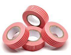 Washi Tape  Red Checker Washi Tape  Japanese by pinkdotsetc, €2.70