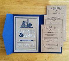 North Carolina Mountain Wedding Invitation   Might Could Studios, Christine Fleming