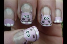 Hippo nails! I know who will love these ;)