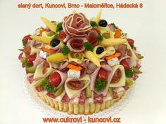 slaný dort Brno, www.cukrovi-kuncovi.cz  dorty na objednávku Kuncovi, Brno - Maloměřice, Hádecká 8, obložené chlebíčky, jednohubky, kanapky, svatební cukroví, koláčky,vánoční cukroví,  balení výslužek, dorty svatební, dětské, klasické, šlehačkové, ovocné, slané Waffles, Breakfast, Food, Food Food, Morning Coffee, Essen, Waffle, Meals, Yemek