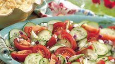 Here's a stress-free salad made with dilled cucumber and tomatoes poured with vinegar mixture – a delicious side dish!
